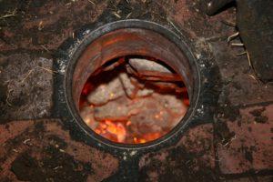 обжиг кирпича углем